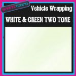 10M X 1524mm VEHICLE CAR VAN WRAP STYLING GRAPHICS WHITE & GREEN TWO TONE